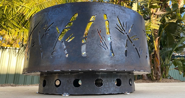 Bamboo Fire Pit